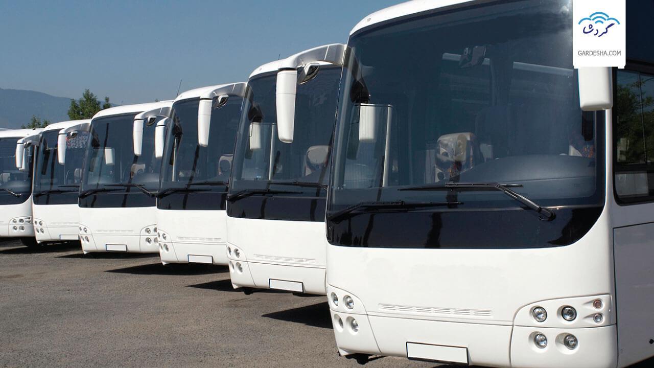 قیمت بلیط انواع اتوبوس