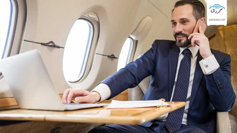استفاده از اینترنت در هواپیما