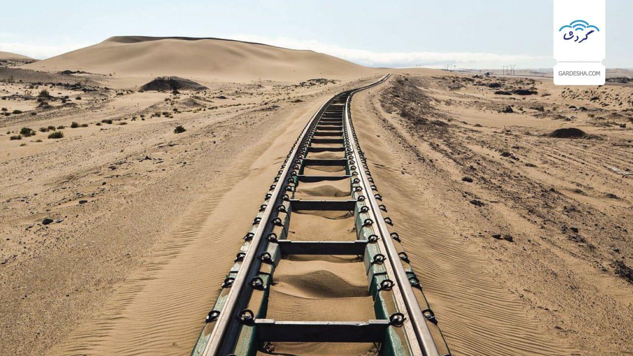 مسیر کویری قطار تهران به مشهد