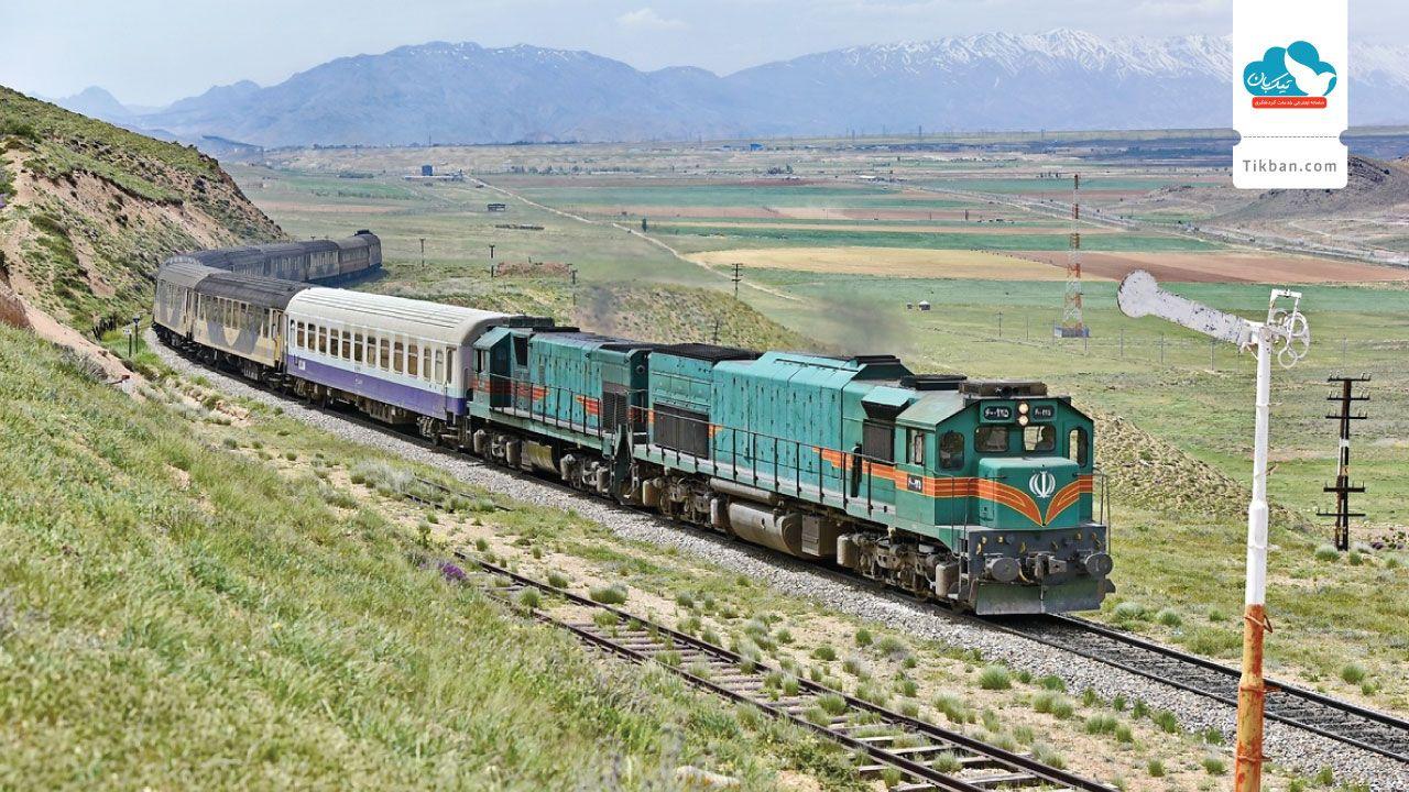 مسیر قطار تهران مشهد