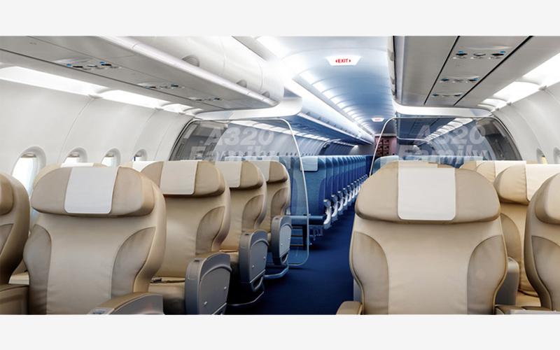فضای داخل هواپیمای ایرباس a320